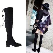 Boots 34 35 36 37 38 39 40 Black 5.5cm single lining black 5.5cm down lining black 2.5cm down lining black 2.5cm single lining Elastic cloth Other / other Middle heel (3-5cm) Thick heel Elastic cloth Short tube Round head cloth cloth Winter 2017 Sleeve Europe and America rubber Solid color winter