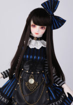 BJD doll zone Wigs 1/4 Over 3 years old Customized black 1/4