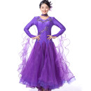 Modern dance suit (including performance clothes) Graceful dancer Waltz Tango Foxtrot female Pink rose red bright yellow sapphire blue lake blue purple S M L XL XXL XXL larger other MQ239