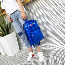 Backpack PU Other / other Heart Silver Heart Black Heart Pink Heart blue letter blue letter black letter silver letter pink brand new in zipper leisure time Double root Japan and South Korea hard youth no Soft handle written words nothing female No waterproof other polyester fiber Embroidery no XK