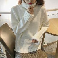 Wool knitwear Зима 2016 Румяна Белый Черный Средний код Длинные рукава Пригородные Обычные модели Отдельная деталь сгущаться рыхлый Высокий воротник Чистый цвет акрил 31% (включительно) -50% (включительно) Корейская версия другой / другие хеджирование