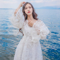 Dress Autumn 2016 white S M L longuette Two piece set commute middle-waisted Solid color Socket other Type A Retro