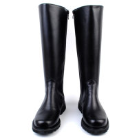 Boots Other / other 38 39 40 41 42 43 44 45 46 zipper cloth High tube PU black Cattle hide (except cattle suede) cloth Knights' boots Round head Simplicity rubber Youth (18-40 years old) wear-resisting spring and autumn Thick bottom without wearing make-up Middle heel (3-5cm) Microfiber skin