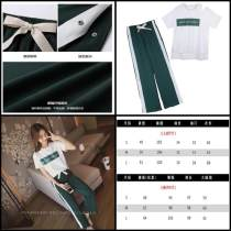 Casual suit Summer of 2018 Green top + pants single top single pants S M L XL XXL Five hundred and forty-six