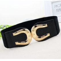 Belt / belt / chain Metal Black [el41] female Waistband Versatile Single loop Middle aged youth a hook letter 6cm alloy Tightness EL41