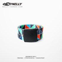 Belt / belt / chain other Photo Color HEYBIG belt Universal Hip-hop Buckle Single circle alloy CJH172047GL printing Glossy