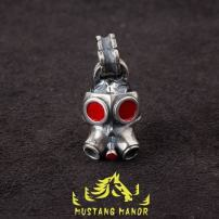 Pendant / Pendant Silver ornaments 301-400 yuan Other / other Uncoated red paint mask skeleton red paint eye mask skeleton brand new goods in stock Fresh out of the oven Japan and South Korea Not inlaid 925 Silver