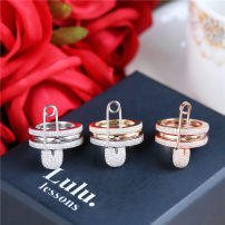 Ring / ring Natural zircon 101-200 yuan Other / other brand new goods in stock Europe and America female Fresh out of the oven Silver inlaid gems other LL-4579485990