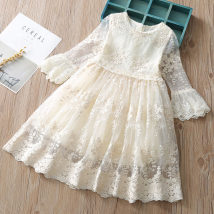 Dress White grey Other / other female 100cm(7) 110cm(9) 120cm(11) 130cm(13) 140cm(15) Other 100% summer