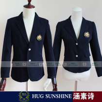 suit Spring 2016 Pure dark blue women's suit coat pure dark blue men's suit coat XXL XXXL S M L XL Long sleeves routine Self cultivation tailored collar Single breasted Sweet routine Solid color 18-24 years old other Pocket button