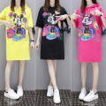 T-shirt Yellow red black M L XL 2XL 3XL 4XL Summer of 2018 Short sleeve easy Medium length routine commute cotton 51% (inclusive) - 70% (inclusive) 18-24 years old originality Cartoon animal pattern printing