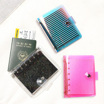 Notebook / Notepad LUCALAB Binder binding Others Phosphor transparent pastel laser one million nine hundred and fifty thousand eight hundred and fifty Creative trend of xiaoqingxin in Japan and South Korea General notebook Soft copy Single book Hand account Student white collar More than 100 pages