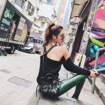 sweater Autumn of 2018 Average size black Long sleeves Socket singleton  Regular other 51% (inclusive) - 70% (inclusive) street routine Solid color Self cultivation BOSSY LADY SY4730J523j1-9 backless
