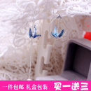Earrings Silver ornaments RMB 25-29.99 shouer brand new female Japan and South Korea goods in stock Fresh out of the oven other Bear / pig / animal d45600 925 Silver