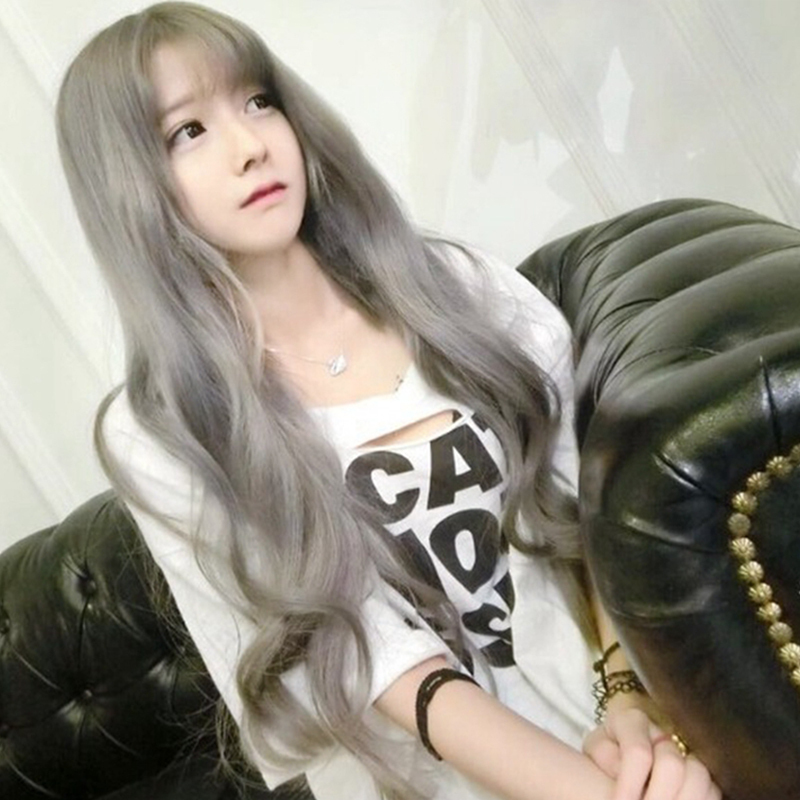 Whole wig High temperature silk Long curly hair Sweet and lovely Fashion girl The air is like a bang Basawig / Bashar Age reduction and face repair Comfortable and breathable Long curly hair