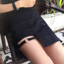 skirt Spring of 2018 S M L black Short skirt sexy High waist skirt Solid color Type A 18-24 years old 0250