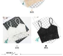Bras White Black Dark Khaki Average size Fixed shoulder strap No buckle Wireless  Full cup Vest style Other / other Girls (18-25 years old) No insert