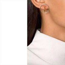 Ear Studs Alloy / silver / gold 10-19.99 yuan Other / other Gold one silver one black one gold one pair silver one pair black one pair brand new