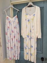 Nightdress Other / other Pink yellow Average size Sweet camisole Leisure home longuette Plants and flowers youth