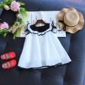 Dress white Other / other female 90cm / 5 100cm / 7 110cm / 9 120cm / 11 130cm / 13 Other 100% summer Korean version 029035