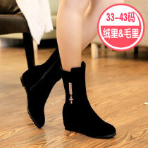 Boots 33 34 35 36 37 38 39 40 41 Black (winter style) black (spring and autumn thin velvet) Suede Other / other High heel (5-8cm) Internal elevation
