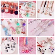 Roller ball pen Cartoon 0.5mm Others black Pendant collection Student others Daily writing Quick drying no