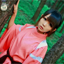 Cosplay women's wear suit goods in stock Over 14 years old Top + strap + pants + Red Belt clogs (size 36-39) free two toe wig (60cm) Animation original video game L m s XL average size Love apricot beauty Chinese Mainland Spirited away Chihiro Kono
