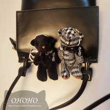 Key buckle OHOHO Height (12cm) vertical small black bear (12cm) Plush cartoon series  ohoho-xx-1