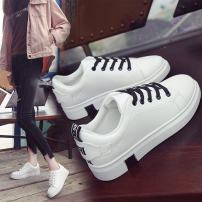 Low top shoes 35 36 37 38 39 Other / other Yellow red black Round head Flat heel PU Deep mouth Flat heel (1cm or less) PU Spring of 2018 Frenulum PU