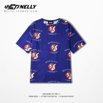 T-shirt Youth fashion blue routine M L XL HEYBIG Short sleeve Crew neck easy Other leisure summer CJH279035CYAD teenagers routine Hip hop 2018 printing