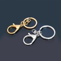 Key buckle Courtesy without worry Gold key ring silver key ring