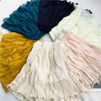 skirt 100cm,110cm,120cm,130cm,140cm Yellow, apricot, black, green, dark green, beige Other / other female Other 100%