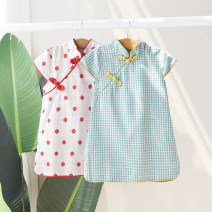 cheongsam Green check, pink check, strawberry Cotton 95% other 5% No model summer lattice Pure cotton (95% and above) Class A 6 months, 9 months, 18 months, 2 years old, 3 years old, 4 years old, 5 years old, 6 years old Chinese Mainland