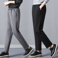 Casual pants Gray, black M,L,XL,2XL Winter of 2019 trousers Haren pants Natural waist Versatile thickening 25-29 years old 71% (inclusive) - 80% (inclusive) Other / other cotton
