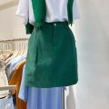 skirt Spring 2021 S,M,L Black, white, apricot, green Short skirt commute High waist other Solid color Type H 18-24 years old 51% (inclusive) - 70% (inclusive) other other Korean version