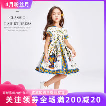 Dress Blue and white female Yining 100cm, 110cm, 120cm, 130cm, 140cm, 150cm, 160cm, custom made special pat here (no return) Cotton 96% other 4% summer ethnic style Short sleeve Broken flowers cotton Irregular Class B Chinese Mainland Zhejiang Province Wenzhou City