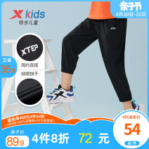 trousers XTEP / Tebu male 100cm 110cm 120cm 130cm 140cm 150cm 160cm 165cm 170cm summer Ninth pants motion Official pictures Quick drying pants Leather belt middle-waisted Don't open the crotch Polyester 88% polyurethane elastic fiber (spandex) 12% Summer 2021 6 years old