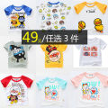 T-shirt Other / other 90cm,100cm,110cm,120cm,130cm neutral summer Short sleeve Crew neck Korean version No model nothing cotton Cartoon animation Class A Sweat absorption 12 months, 9 months, 18 months, 2 years old, 3 years old, 4 years old, 5 years old, 6 years old, 7 years old Chinese Mainland