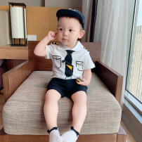 T-shirt Captain's Lapel top, Captain's Lapel top (pre-sale) Other / other 73cm,80cm,90cm,100cm,110cm,120cm male summer Short sleeve There are models in the real shooting cotton other 6 months, 12 months, 9 months, 18 months, 2 years old, 3 years old, 4 years old, 5 years old