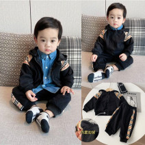 suit Other / other black suit  66cm,73cm,80cm,90cm,100cm,110cm,120cm leisure time There are models in the real shooting cotton 3 months, 6 months, 12 months, 9 months, 18 months, 2 years old, 3 years old, 4 years old, 5 years old