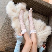 Socks / base socks / silk socks / leg socks female Other / other Average size white 1 pair routine High tube Four seasons Sweet