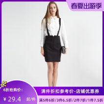 skirt Spring of 2018 S M L black Middle-skirt Versatile Natural waist Strapless skirt Solid color Type H 25-29 years old 51% (inclusive) - 70% (inclusive) Jando Viscose