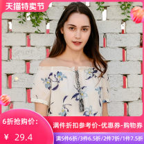 Lace / Chiffon Summer of 2019 colour XS S M L Short sleeve Versatile Socket singleton  Regular One word collar routine 25-29 years old Jando A72137 Polyester 100%