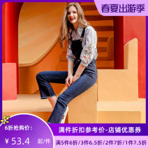 Jeans Autumn of 2019 blue S M L XL Ninth pants Natural waist rompers routine 25-29 years old Dark color C73113 Jando Cotton 88.3% polyester 9.3% polyurethane elastic 2.4%