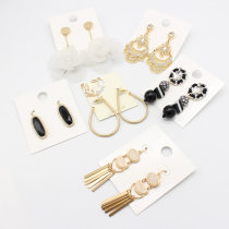 Ear Studs Mixed materials RMB 1.00-9.99 Other / other brand new Europe and America female goods in stock Fresh out of the oven other Plants and flowers