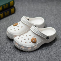 slipper 35,36,37,38,39,40,41,42,43,44,45,46,47 Other / other Flat bottom Flat heel (1cm or less) EVA Summer 2021 Baotou EVA daily college Injection pressure shoes Youth (18-40 years old), children (under 18 years old) Cartoon animation 0.3kg