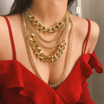 Necklace Alloy / silver / gold 10-19.99 yuan Other / other Gold, silver brand new Europe and America goods in stock Fresh out of the oven yes