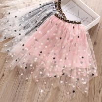 skirt The recommended height is 110cm for Size 110, 120cm for Size 120, 130cm for Size 130, 140cm for size 140, 150cm for size 150 and 160cm for size 160 Apricot, black, pink Other / other female Other 100% No season skirt Korean version other Irregular other Jxb-0046 five star octagonal yarn skirt