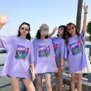 T-shirt Purple (money making printing), purple (love printing), purple (self-cultivation printing), purple (weight loss printing), white T-shirt, buy two free gifts M 70-95, l 95-110, XL 110-125, 2XL 125-140, 3XL 140-160 Summer of 2018 Short sleeve Crew neck easy Regular routine commute cotton Funny