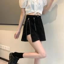 skirt Summer 2021 S [90-100 Jin], m [100-110 Jin], l [110-120 Jin], XL [120-135 Jin], 2XL [135-150 Jin], 3XL [150-165 Jin], 4XL [165-175 Jin], 5XL [175-200 Jin] Black 0077 Short skirt fresh High waist A-line skirt other Type A 18-24 years old 71% (inclusive) - 80% (inclusive) Denim JSWETR cotton